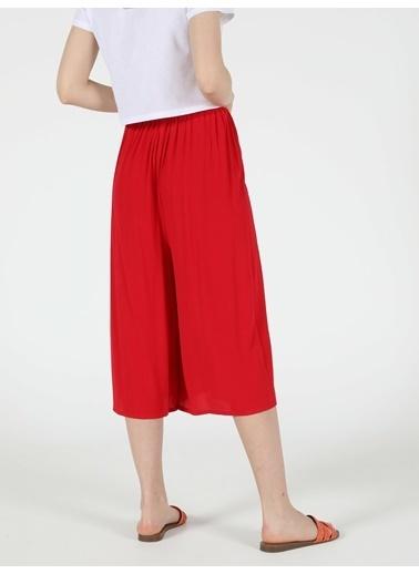 Colin's Regular Fit Yüksek Bel Geniş Paça Kadın Kırmızı Pantolon Kırmızı